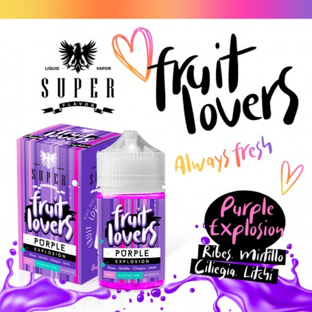 PURPLE EXPLOSION FRUIT LOVERS 50ML SUPER FLAVOR