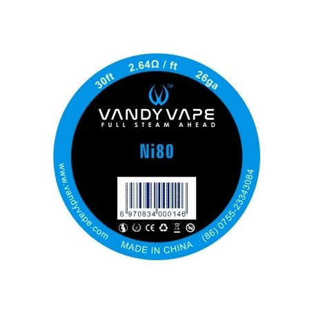 FILO NICHROME NI80 26GA VANDY VAPE