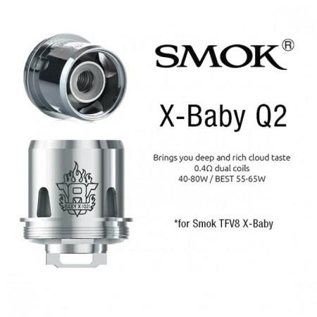 COIL TFV8 X-BABY-Q2 DUAL 0,40 OHM 1 PZ SMOK