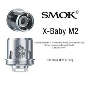 COIL TFV8 X-BABY-M2 DUAL 0,25 OHM 1 PZ SMOK