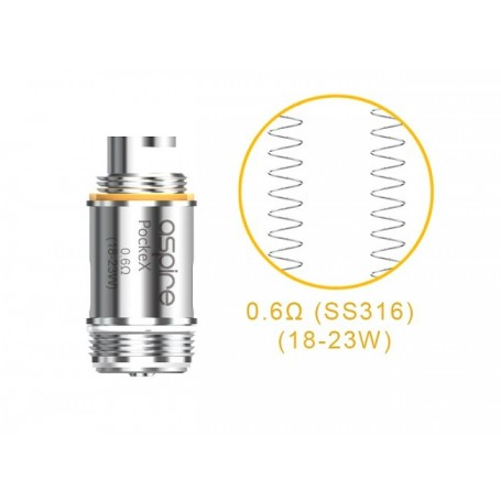 COIL POCKEX  0,60 OHM 1PZ ASPIRE