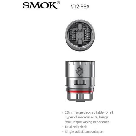 COIL TFV12 V12-RBA DUAL0,30 OHM 1 PZ SMOK