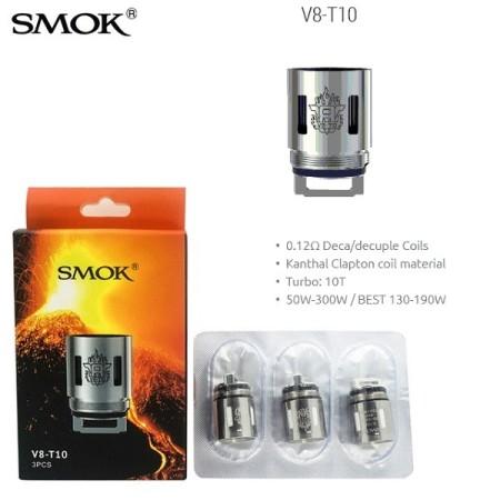 COIL TFV8 V8-T10 DECA/DECUPLE 0,12 OHM 1 PZ SMOK
