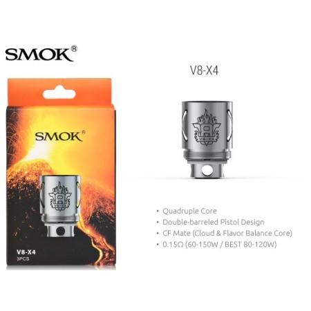 COIL TFV8 V8-X4 QUADRUPLE 0,15 OHM 1 PZ SMOK