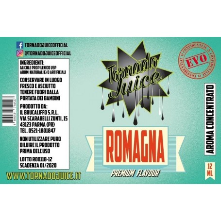 ROMAGNA EVO AROMA CONC. 12 ML TORNADO JUICE