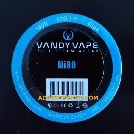 FILO NICHROME NI80 40GA VANDY VAPE