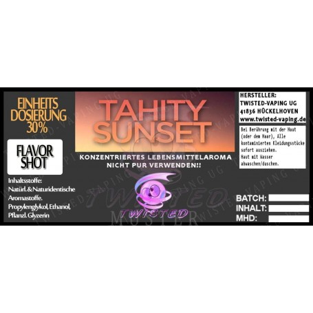 TAHITY SUNSET FLAVORSHOT AROMA 5 ML TWISTED