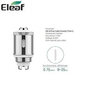 COIL GS AIR PURE COTTON 0,75 OHM 1 PZ ELEAF