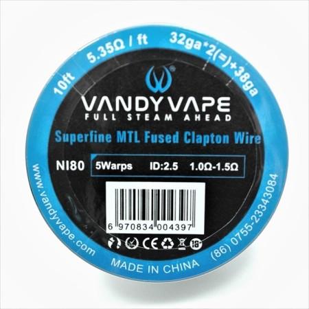 FUSED CLAPTON MTL SUPERFINE NI80 32GA VANDY VAPE