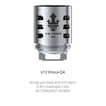COIL TFV12 PRINCE-Q4 QUADRUPLE 0,40 OHM 1 PZ SMOK