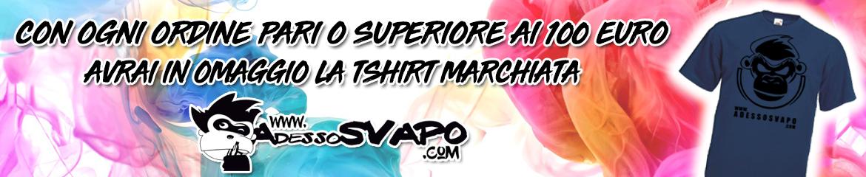 t-shirt in regalo con spesa minima di 100€